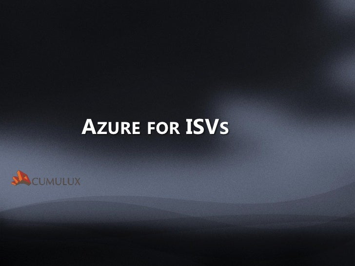 Azure for ISVs