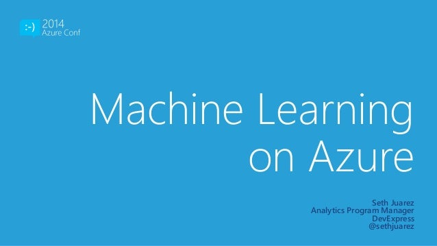 machine learning azure