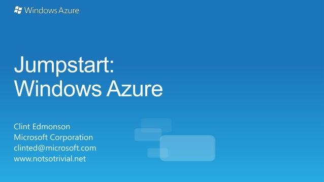 Windows Azure Jumpstart
