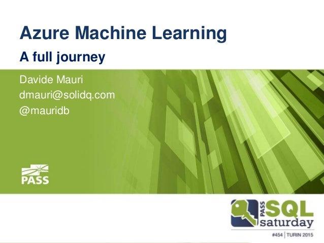 learn azure machine learning