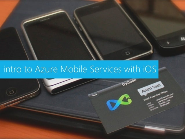 intro to Azure Mobile Services with iOS