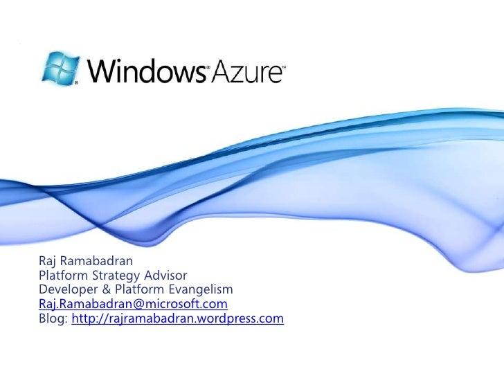 Azure Overview Csco