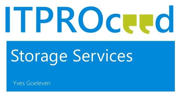 Storage Services Yves Goeleven