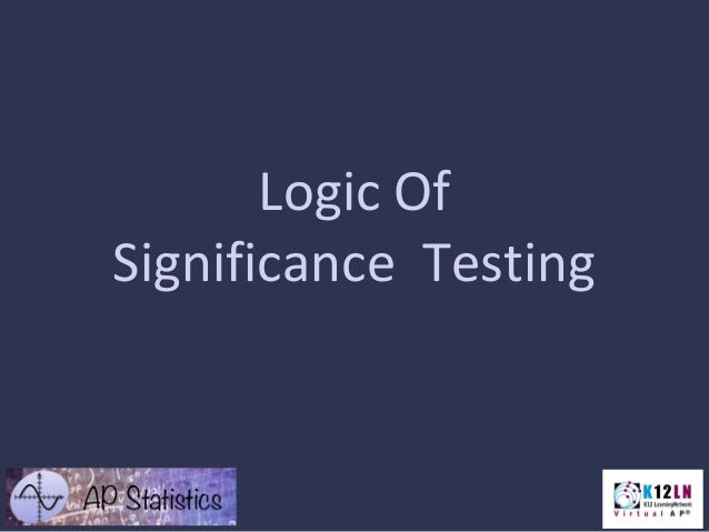 Logic Of Significance Testing