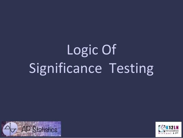 B.1  logic of sig. testing
