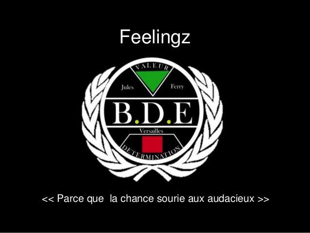 Feelingz  << Parce que la chance sourie aux audacieux >>