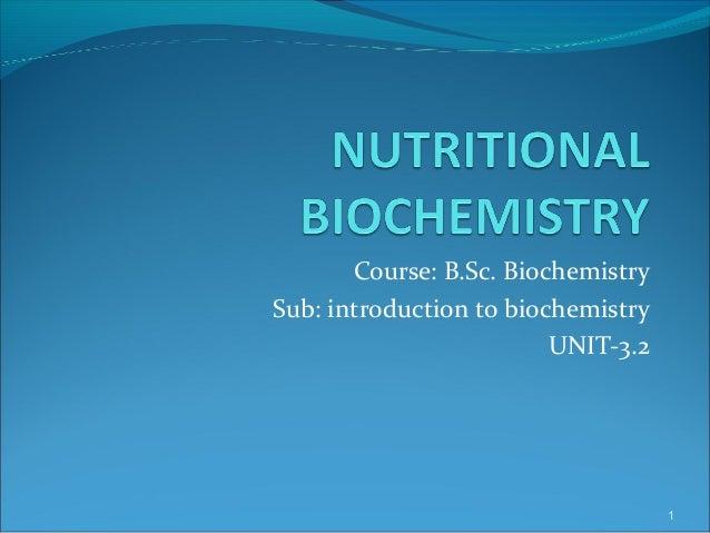 Biochemistry universities course