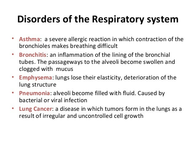 disease of the respiratory system essay Free coursework on respiratory system from essayukcom, the uk essays company for essay, dissertation and coursework writing  diseases of the respiratory system .