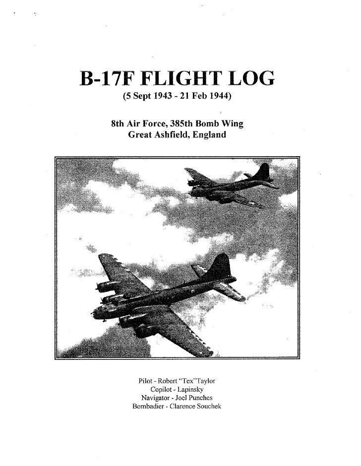 B 17 Logbook, 1943 1944