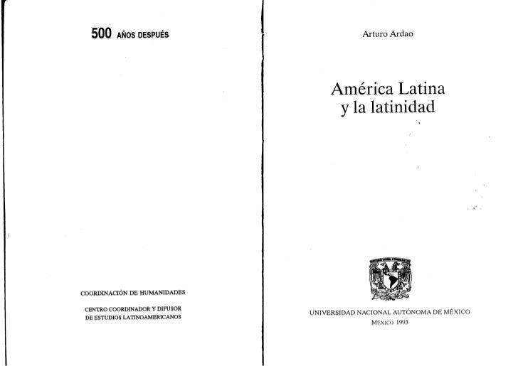"""Arturo Ardao: """"Génesis de la idea y el nombre América Latina""""."""
