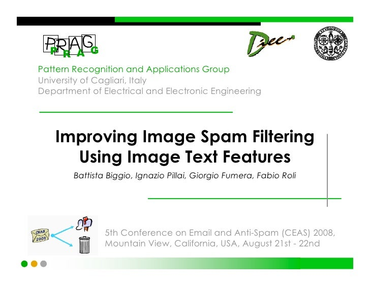 Improving Image Spam Filtering Using Image Text Features