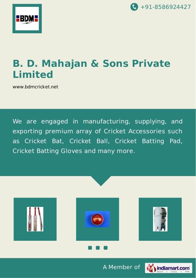 B d-mahajan-sons-private-limited