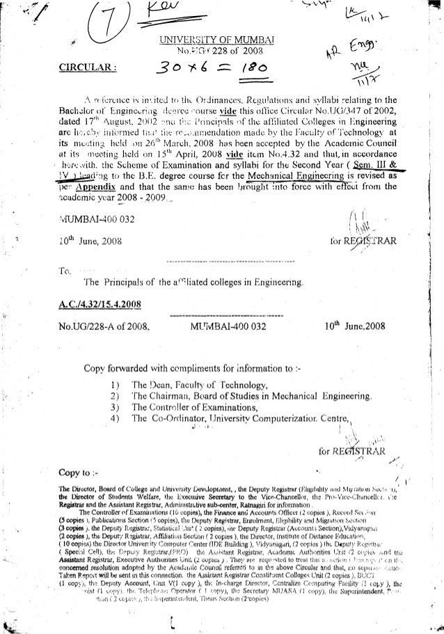 B.e. machanical engg. sem. iii & iv 1