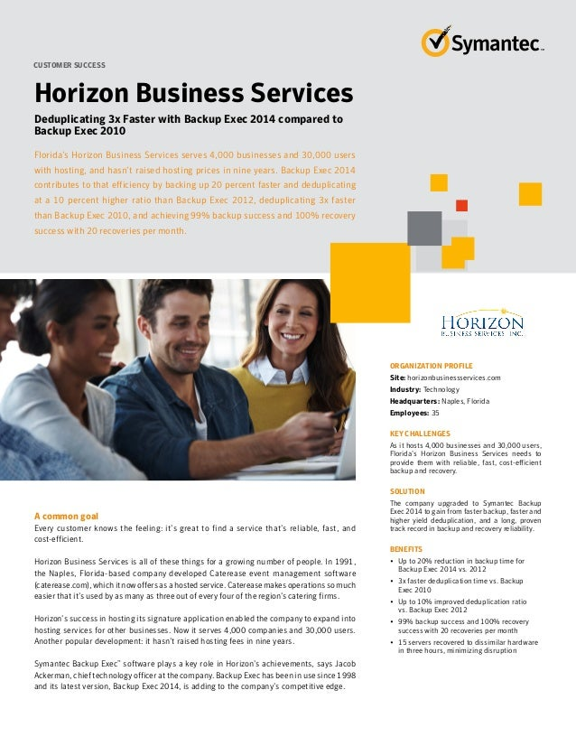 Backup Exec 2014 Customer Success Story - Horizon Business Services