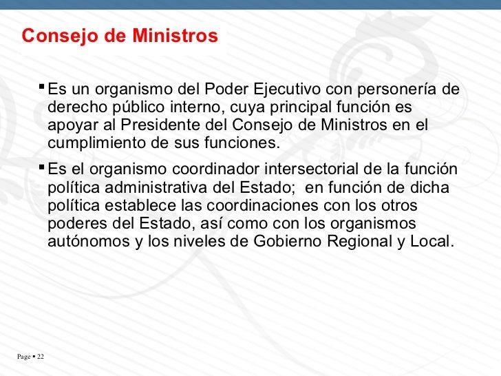La estructura del estado peruano for Clausula suelo consejo de ministros