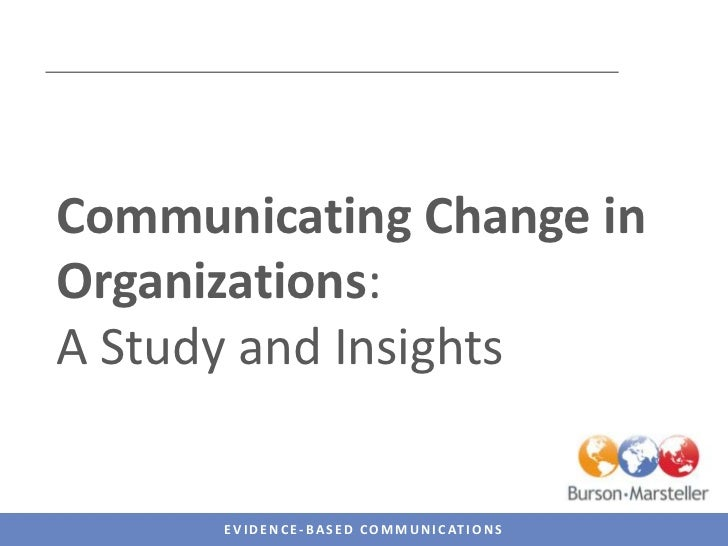 A view into the world of change communications<br />This survey was developed by the Burson-Marsteller EMEA Change Communi...