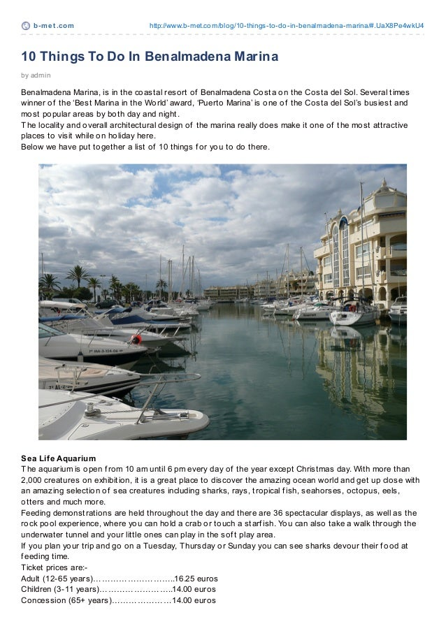 10 Things To Do In Benalmadena Marina For Families