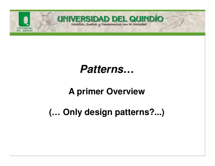 Patterns Overview