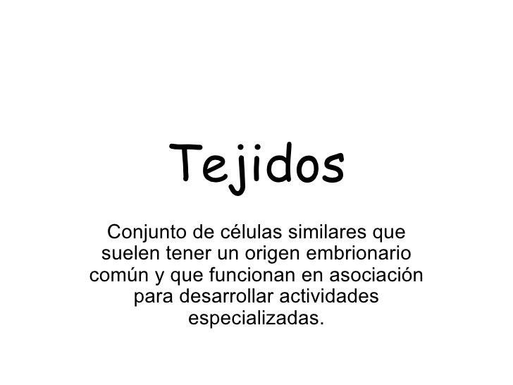 B.  Tejidos IntroduccióN