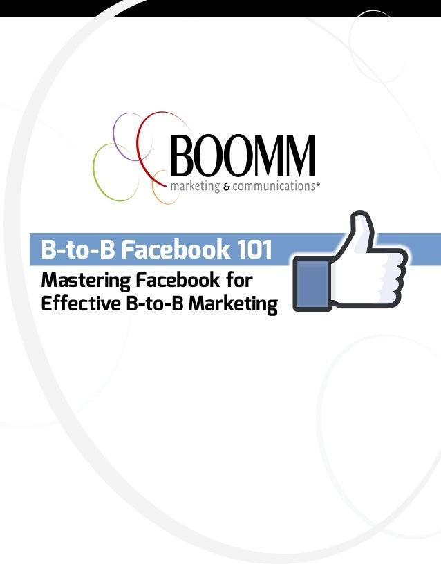 B to-B Facebook 101