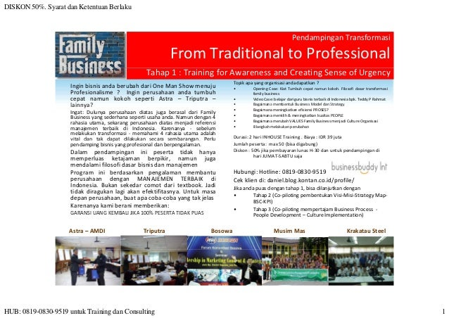 Workshop From Traditional to Professionalized Family Business