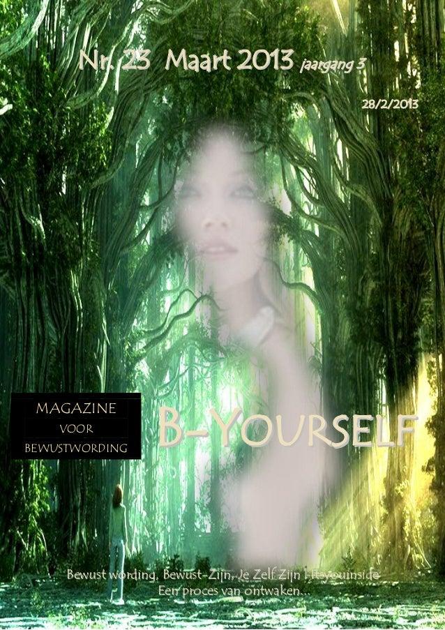 B yourself magazine nr.  23 maart  2013