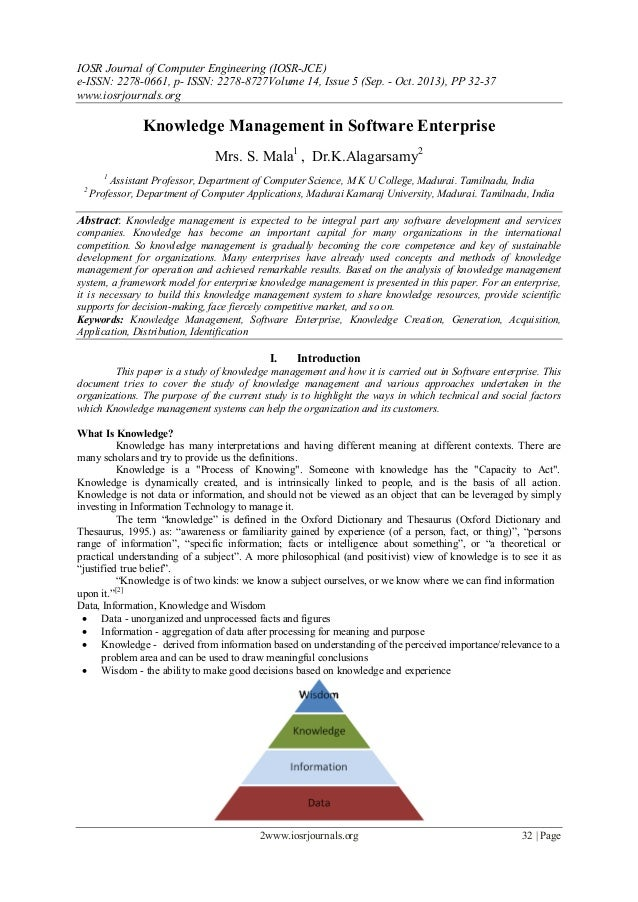 IOSR Journal of Computer Engineering (IOSR-JCE) e-ISSN: 2278-0661, p- ISSN: 2278-8727Volume 14, Issue 5 (Sep. - Oct. 2013)...