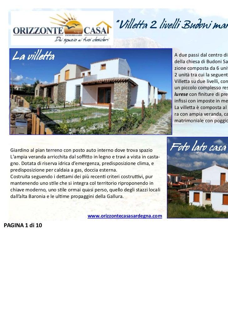 """"""" Villetta 2 livelli Budoni mare"""" - Via De Gasperi                                                                        ..."""