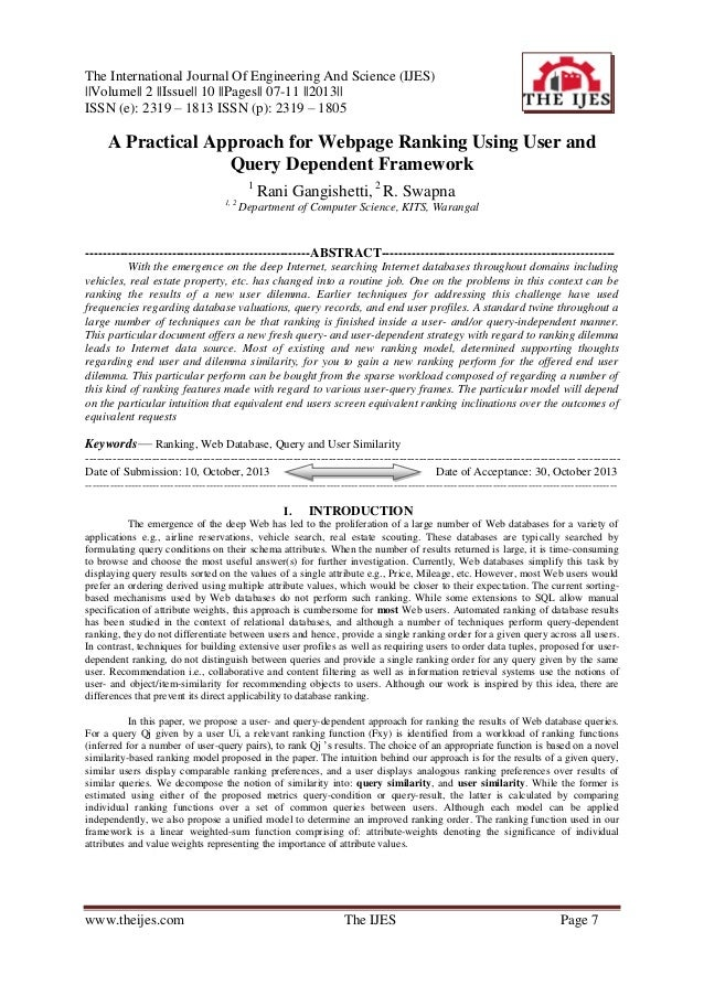 The International Journal Of Engineering And Science (IJES)   Volume   2   Issue   10   Pages   07-11   2013   ISSN (e): 2...