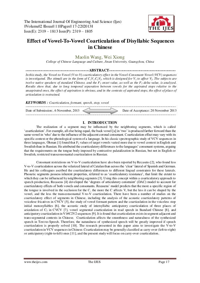 The International Journal Of Engineering And Science (Ijes) ||Volume||2 ||Issue|| 11||Pages|| 17-22||2013|| Issn(E): 2319 ...