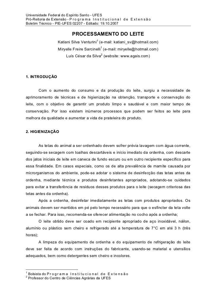 Universidade Federal do Espírito Santo - UFESPró-Reitoria de Extensão - P r o g r a m a I n s t i t u c i o n a l d e E x ...