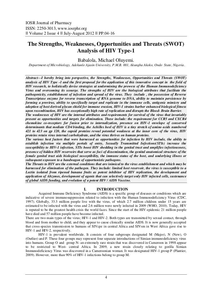 IOSR Journal of PharmacyISSN: 2250-3013, www.iosrphr.org‖‖ Volume 2 Issue 4 ‖‖ July-August 2012 ‖‖ PP.04-16 The Strengths,...
