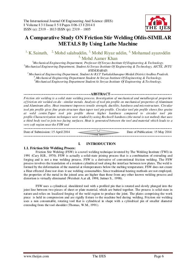 The International Journal Of Engineering And Science (IJES) || Volume || 3 || Issue || 5 || Pages || 06-13 || 2014 || ISSN...