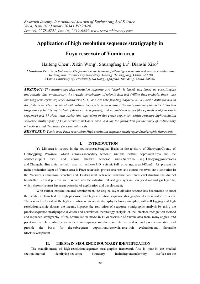 Research Inventy: International Journal of Engineering And Science Vol.4, Issue 01 (January 2014), PP 20-26 Issn (e): 2278...