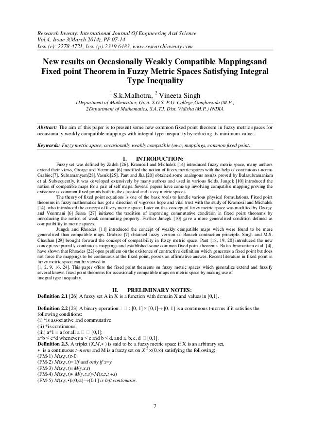 Research Inventy: International Journal Of Engineering And Science Vol.4, Issue 3(March 2014), PP 07-14 Issn (e): 2278-472...