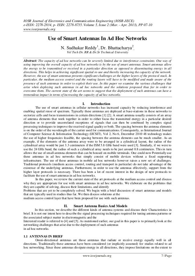 IOSR Journal of Electronics and Communication Engineering (IOSR-JECE)e-ISSN: 2278-2834, p- ISSN: 2278-8735. Volume 5, Issu...