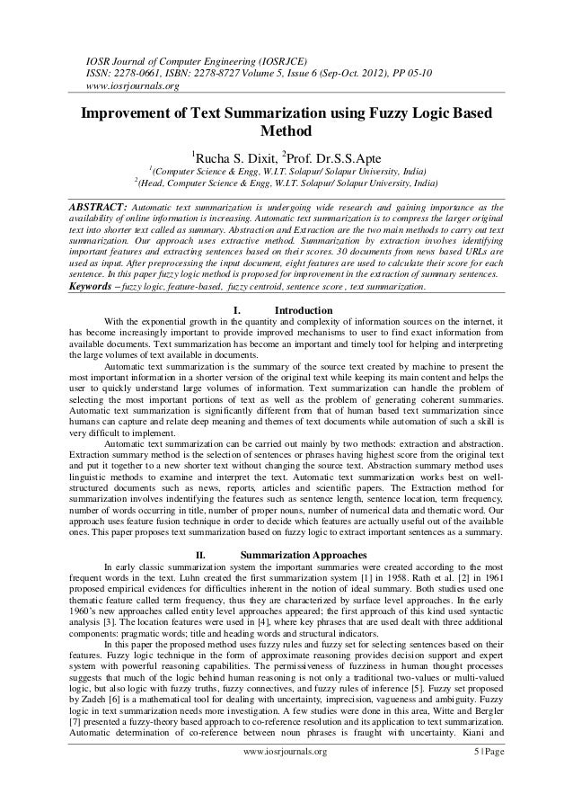IOSR Journal of Computer Engineering (IOSRJCE) ISSN: 2278-0661, ISBN: 2278-8727 Volume 5, Issue 6 (Sep-Oct. 2012), PP 05-1...