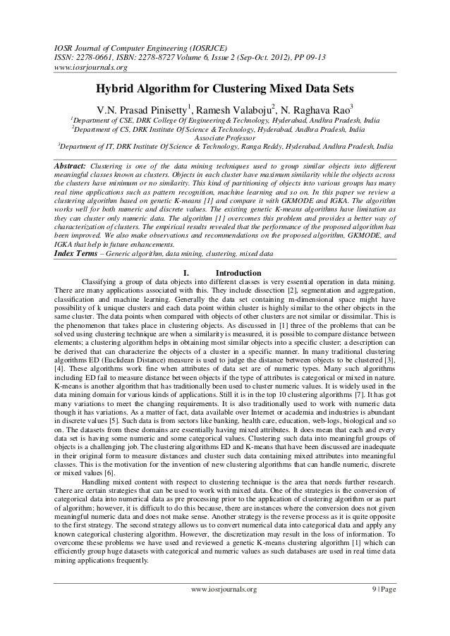IOSR Journal of Computer Engineering (IOSRJCE) ISSN: 2278-0661, ISBN: 2278-8727 Volume 6, Issue 2 (Sep-Oct. 2012), PP 09-1...