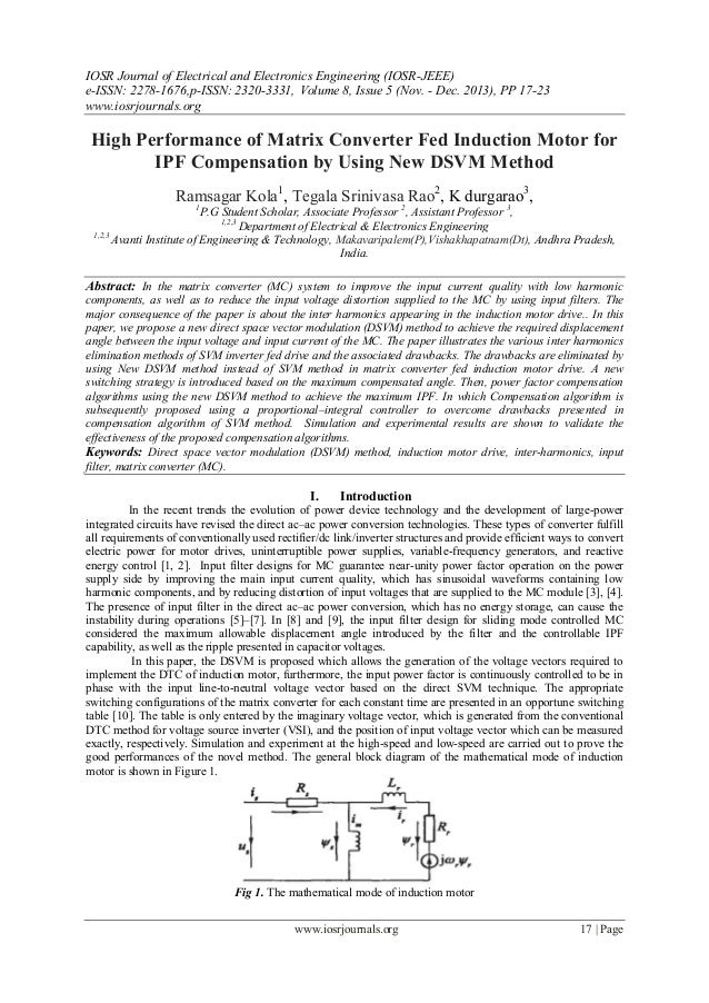 IOSR Journal of Electrical and Electronics Engineering (IOSR-JEEE) e-ISSN: 2278-1676,p-ISSN: 2320-3331, Volume 8, Issue 5 ...