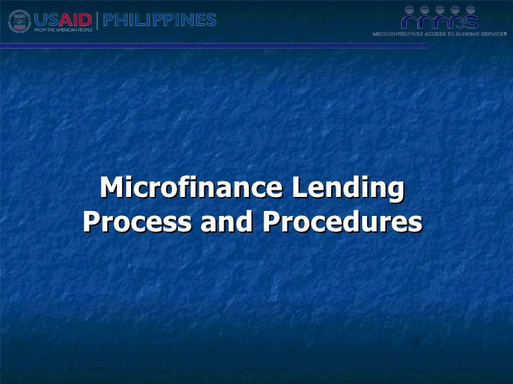 Microfinance Lending Process and Procedures