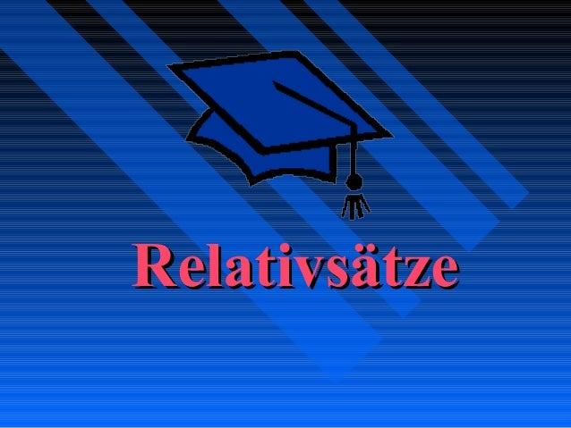 RelativsätzeRelativsätze