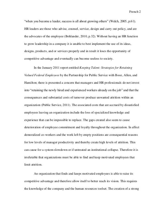 human resources management dissertation proposal