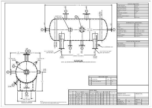 Pressure Vessel Newgeneral Arrangement likewise Electrical Design Software further Architecture Software moreover Flatbed Tilt Trailer further Engineering Isometric Drawing. on engineering design drawings