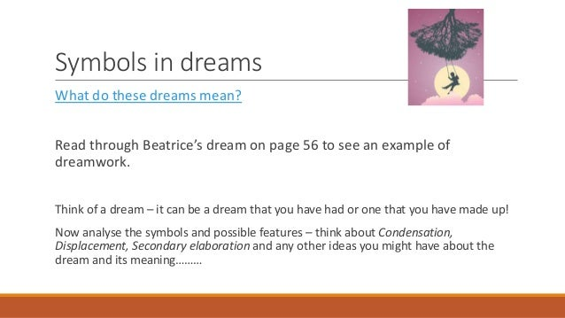 What do these dreams mean?