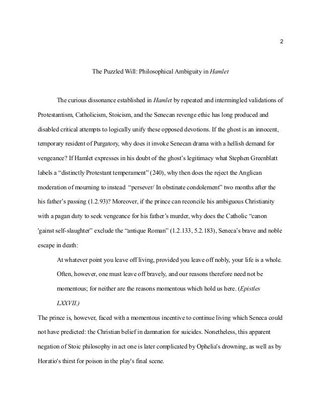 Critical essay on hamlet's characteristics
