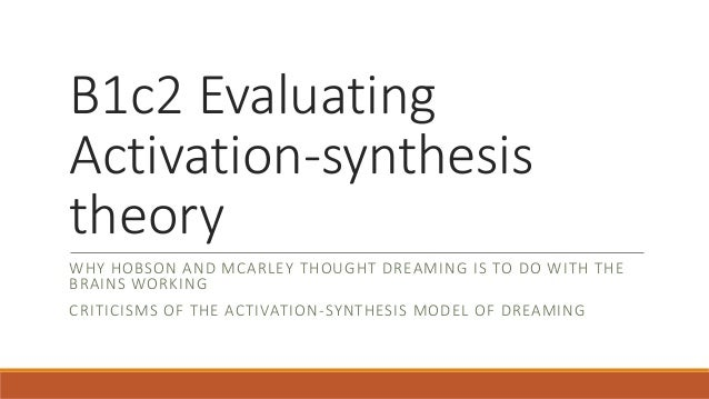 activation-sythesis theory Took me ages to create, took pupils no time to learn and revise.