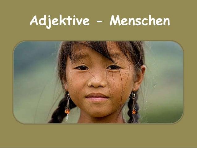 Adjektive - Menschen