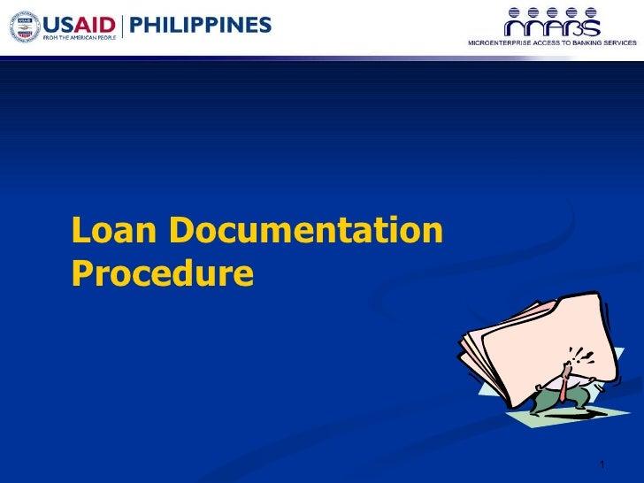 Loan Documentation Procedure