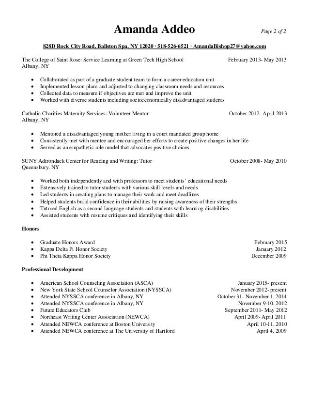 Sample School Counseling Internship Cover Letters
