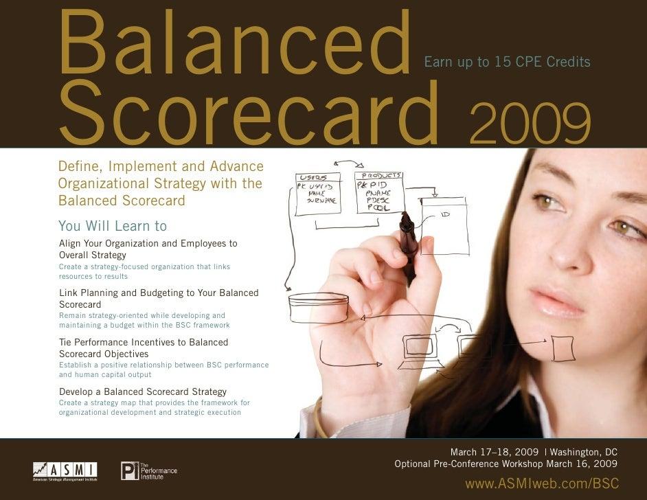 Balanced Balanced Scorecard                                              2009                                             ...